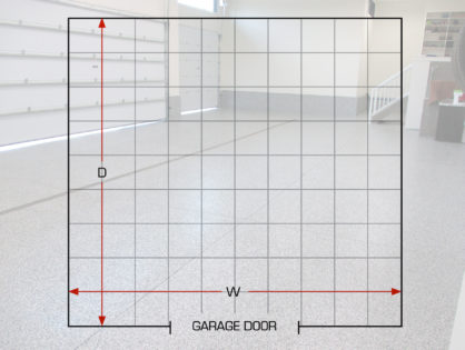 How to properly measure your garage floor for coating