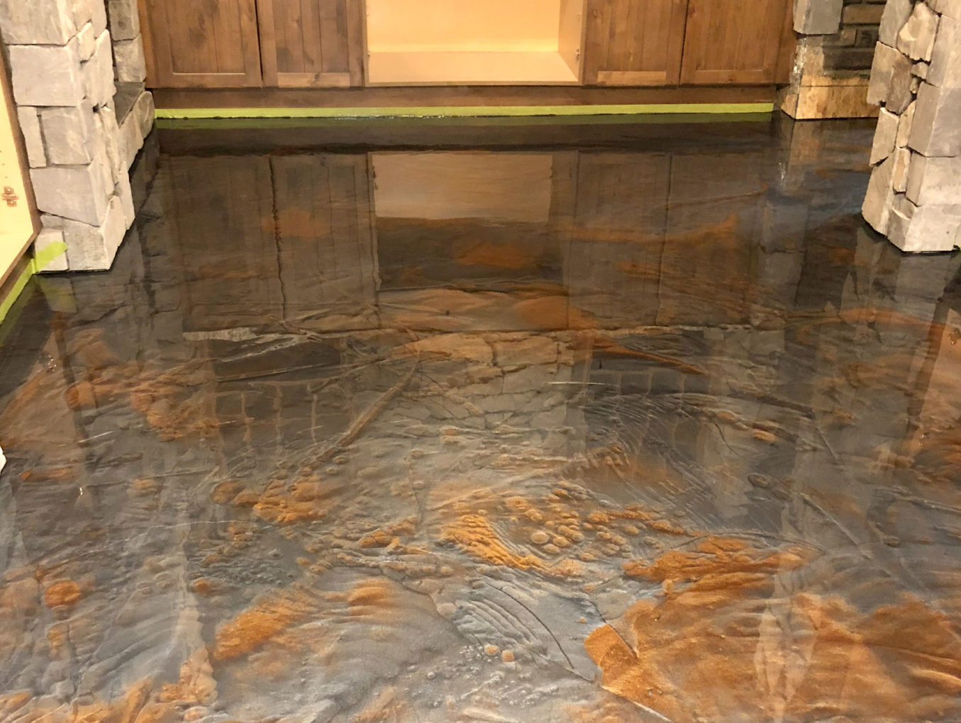 Wine Cellar Metallic Epoxy Floor