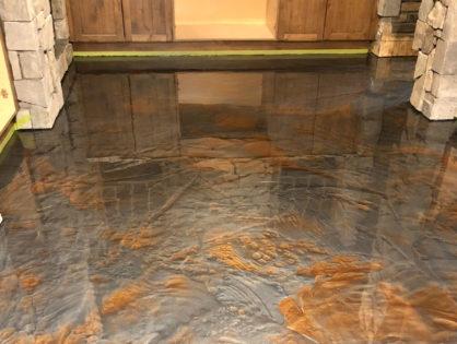 Wine Cellar Metallic Epoxy Floor