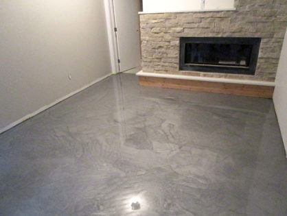 Basement Metallic Floor Coating