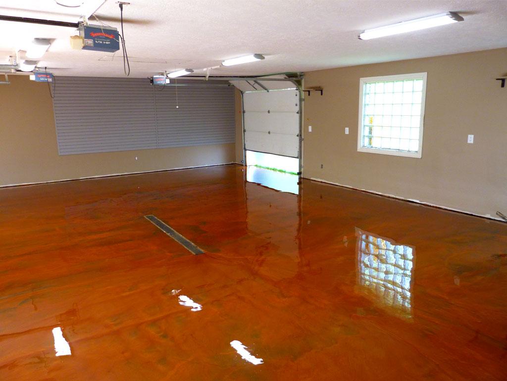 Always unique: metallic floor coating