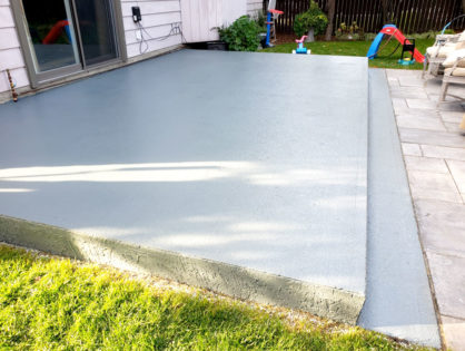 Patio coating before and after