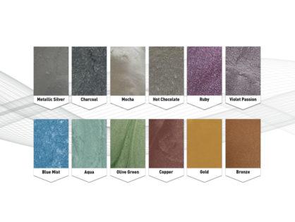 Metallic Pearl Floor Colours