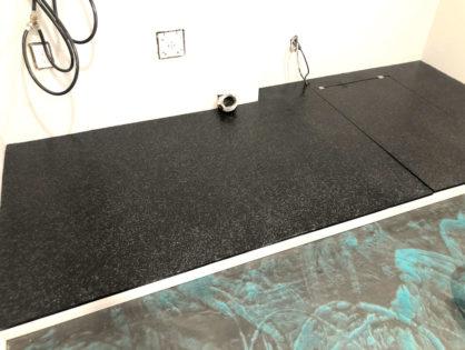 Laundry room epoxy floor