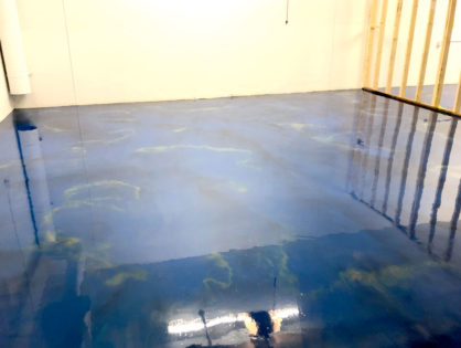 """Maui"" Blue Metallic Floor"