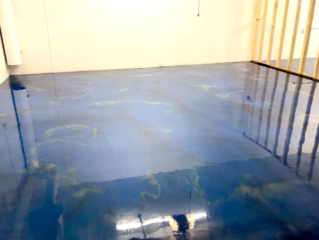 """""""Maui"""" Blue Metallic Floor"""