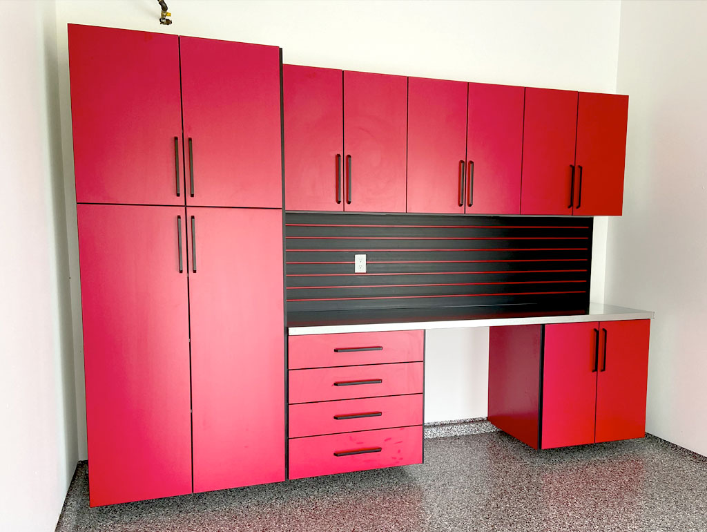 Red SMRT Cabinets