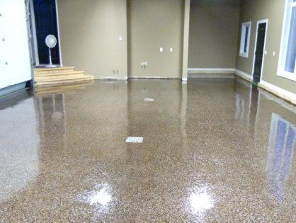 Large Garage Epoxy Flake Floor