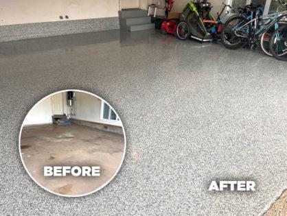 Garage Floor Coating Transformation